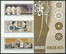Malta - Weihnachten Block 3 postfrisch 1973 Mi. 478-480