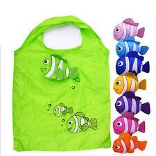 Cute Clown Fish Reusable Folding Shopping Bag Travel Grocery Tote Handbags 9O