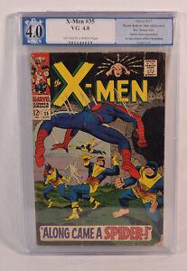 Uncanny X-Men 35 Marvel 1967 PGX 4.0 VG Spider-Man 1st Changeling