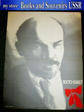 1986 Soviet poster Lenin, Communism, Propaganda 43x55 cm (Artistic)