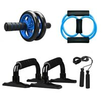 5 en1 Muscle Trainer AB Roller Wheel Kit Push-UP Bar Jump Rope Ejercicio Fitness