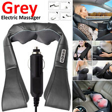 Electric Massage Pillow Lumbar Body Neck Back Kneading Heat Cushion Car Home UK