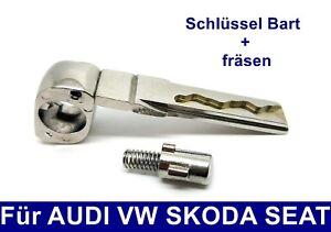 Ersatz Schlüssel Bart + Schleifen Nachmachen Fräsen für AUDI VW SKODA SEAT HAA