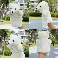 Cute Polar Bear Hand Puppet Story Baby Kids Developmental Soft Doll Plush Toy A