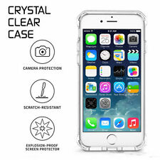 iPhone X Soft TPU Clear Transparent Cases Anti Shock Proof with Tempered Glass