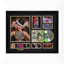 Pink P!NK Signed & Framed Memorabilia - 1CD - Black/Gold Edition -  NEW