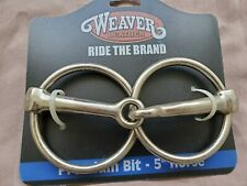 "New Weaver O-Ring Snaffle Bit 5"" Horse Bit"