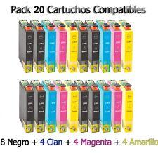 20x tinta cartuchos para Epson Stylus sx420w sx425w sx435w sx440w bx305f bx305fw