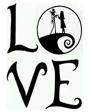 Jack skellington and Sally , Nightmare Before Christmas , Love , Wall decal home