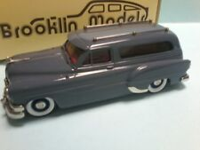 MODIFIED BROOKLIN MODEL of 1953 PONTIAC HEARSE in GREY with coffin inside  boxed