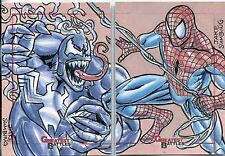 Marvel Greatest Battles Panel Sketch Card By Jake Sumbing