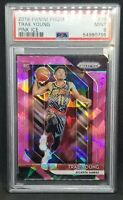 2018 Panini Prizm Pink Ice Trae Young PSA 9 Gem Mint Rookie RC #78