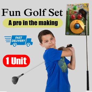 5 Pc Junior Golf Set  Kids Sport Fun Putter Club Ball Indoor Outdoor Use