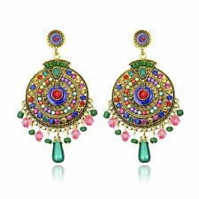 Fashion Ethnic Bali Jhumka Jhumki Brocade Lotus Mexico Gypsy Dangle Earrings
