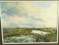 """Milton Signed, Florida Highwaymen Style, """"Everglades"""", Oil on Board, 35"""" x 45""""."""