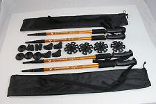 Four Trekking Walking Hiking Sticks Poles Alpenstock anti-shock Snowshoe Gold
