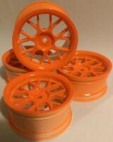 RC Car 1/10 EP 26mm drift rim 3mm 6mm 9mm OFFSET Wheel Y SPOKE Orange Fit Tamiya