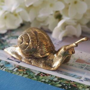 Brass Decorative Golden Garden Snail Hamptons Classic Coastal Home Decor