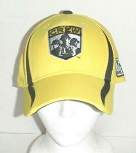 "Adidas MLS Columbus Crew ""The Crew"" Embroidered Hat Cap Yellow/Black Large / XL"