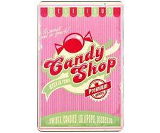 Plaque Publicitaire Vintage Métal Candy Shop  Confiserie Atmosphera 30 x 20 cm
