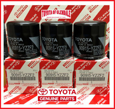 GENUINE TOYOTA LEXUS SCION OIL FILTER SET OF (3) OEM (FAST SHIPPING) 90915-YZZF2