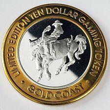 New Listing2000 S Gold Coast Casino .999 Silver Strike $10 Bareback Gaming Token 4Gc0035