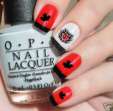 I Love Canada  Nail Art Waterslide Decals -Celebrate Canada Day - Salon Quality!