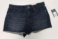 Universal Thread Women's Shorts Size 8 Dark Wash Denim Raw Hem High Rise