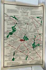 """1919 - 1940 Urbana Illinois IL 34"""" Historical Political Campaign County 1988 Map"""