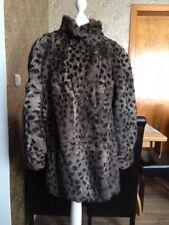 Pelzmantel Echtpelz Fell Gr. 42-44 Wildkatze Look Leopard Gepard fur coat jacket