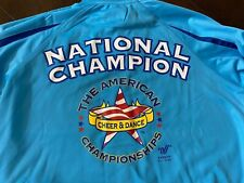 Cheer & Dance Cheerleading National Champion Jacket American Open  Blue Small
