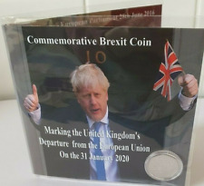 Brexiteers Limited Edition Commemorative Coin Holder + 2020 Brexit  50p Coin