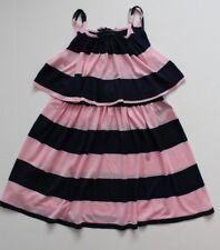 Ralph Lauren Girls Sun Dress Striped Pink Navy Size 6  NWT