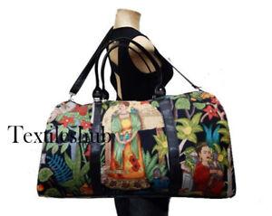 Indian Black Frida Kahlo Duffle Sports Gym Bag Unisex Travel Bags Cotton Handbag