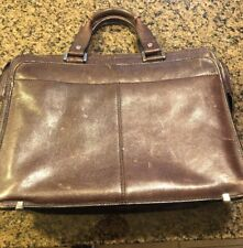 Franklin Covey Leather Briefcase Business Travel Bag Organizer.