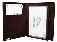 Lederbörse Leder Börse Geldbörse Portemonnaie Farbe Dunkel Braun Marke: DOLPHIN