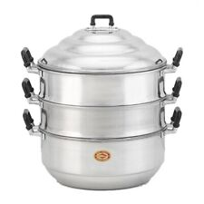 3 tier Big Steamer Pot Aluminum Thai Chinese Food candy Kitchen stewed 40 cm.