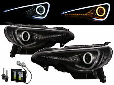 BRZ 2012-present Cotton Halo D4S Bulb W/S Ballast Headlight Black for SUBARU LHD
