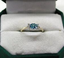 Topaz 9 Carat Multi-Tone Gold Fine Gemstone Rings