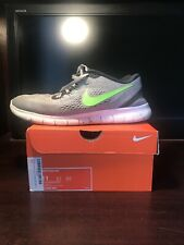 nike free run 2017 men Pure Platinum Electric Green Size US 11 Pre Owned Great!