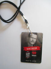 2016 Blake Shelton VIP Lanyard pass Necklace If I'm Honest CD RELEASE CONCERT