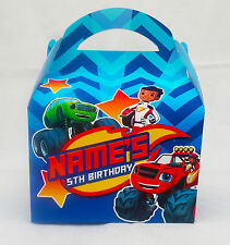 Blaze Monster Machines Children's Personalised Party Boxes Favour 1ST CLASS POST
