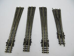 N-SCALE (3) PECO NICKLE/SILVER #8 SWITCH TURNOUTS + (1) WYE