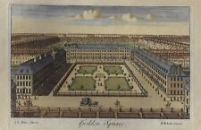 GOLDEN SQUARE, SOHO  - Antique Hand-Colored Engraving -1740- Universal Magazine