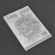 Transparent Rubber Clear Stamps for Scrapbooking Birthday Flower DIY Album Craft