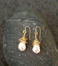 HANDMADE! Genuine Pearl Earrings 20092