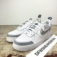 Nike Air Force 1 '07 LV8 2 UNDER CONSTRUCTION White Wolf Grey BQ5484-100 Sz 7Y