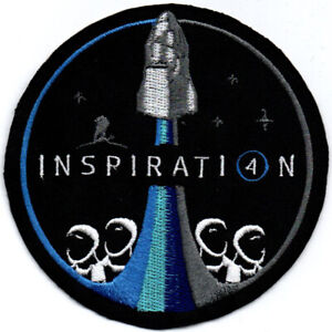 Human Space Flights Inspiration4 Crew Dragon USA Iron On Embroidered Patch