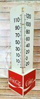 Vintage Coca Cola 1970s Plastic Corner Triangle Thermometer