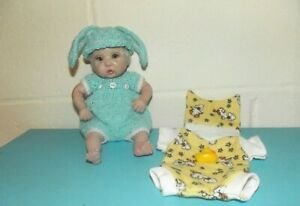 ADORABLE OOAK POLYMER CLAY BABY DOLL WITH EXTRA CLOTHING